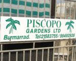 Entrance sign to Piscopo Garden Centre